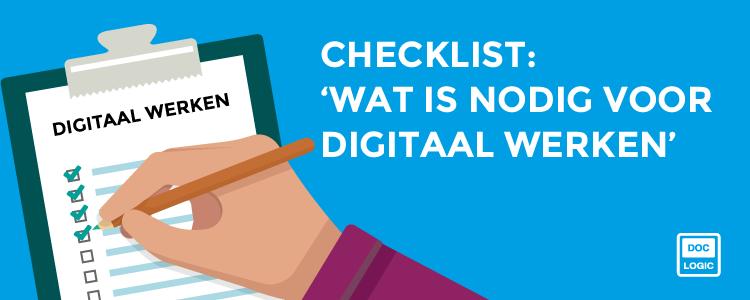 [Checklist] 'Wat is nodig voor digitaal werken?'